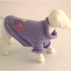 Flower Sweater - Purple