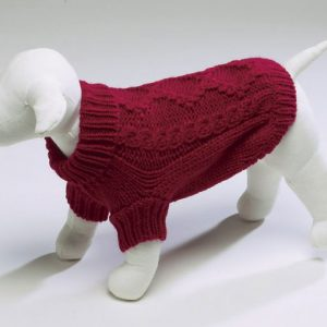 Diamond Knit Sweater - Red