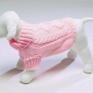 Diamond Knit Sweater - Pink
