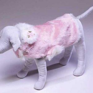 Reversible Pink Faux Fur Coat
