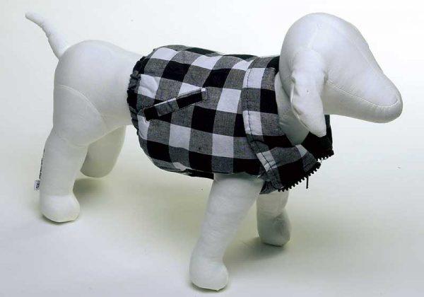 Checkered Vest - Black