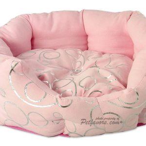 Silver Circle Bed - Pink