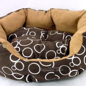 Silver Circle Bed - Brown