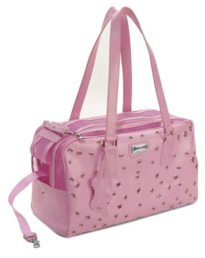 Designer Grommet Pet Carrier - Pink