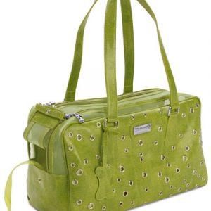 Designer Grommet Pet Carrier - Green