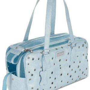 Designer Grommet Pet Carrier - Blue