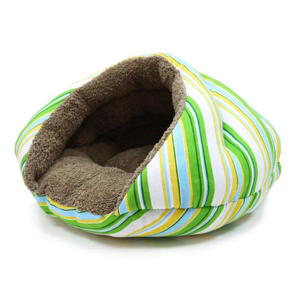 Burger Pet Bed - Green Stripes