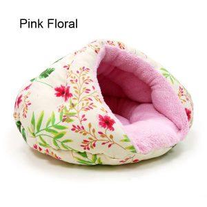 Burger Pet Bed - Pink Floral
