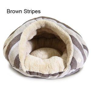 Burger Pet Bed - Brown Stripes