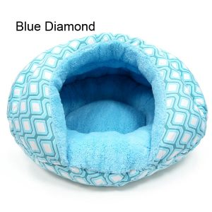 Burger Pet Bed - Blue Diamond