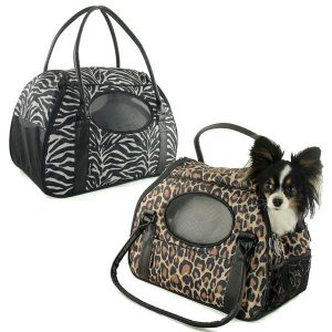 Carry-Me Deluxe Pet Carriers - Cheetah and Zebra