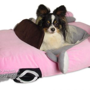Furry Tails Sportscar Pet Bed - Baby Pink
