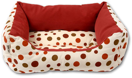 Polka Dot Pet Bed - Cherry