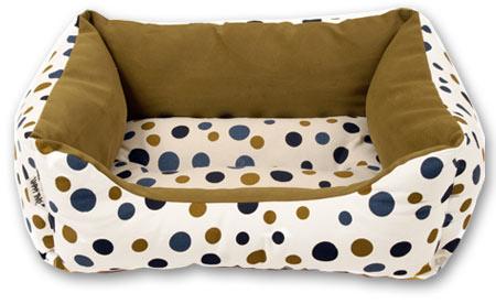 Polka Dot Pet Bed - Olive