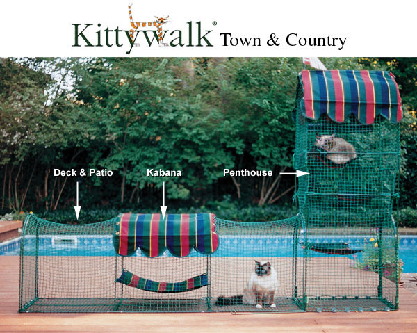 Kittywalk Town and Country Cat Enclosure