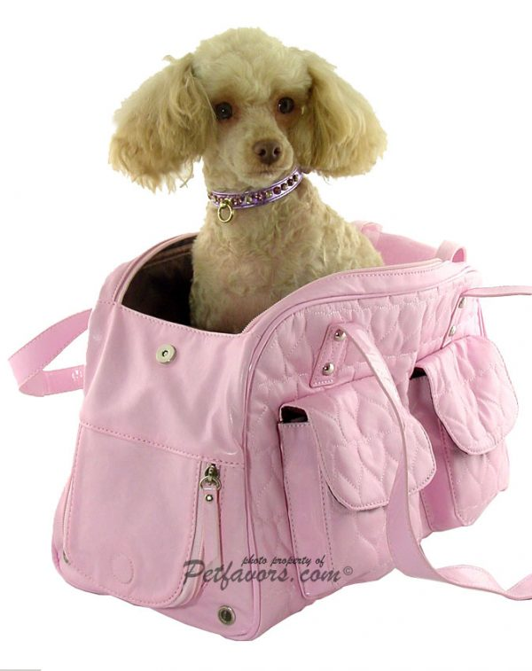 Pink Quilted Hearts Pet Carrier