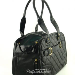 Black Quilted Pet Carrier