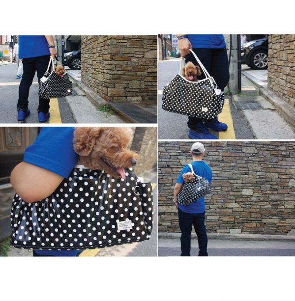 Sugar Dots Pet Carrier - Blue with White Dots