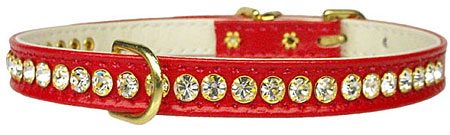 Crystal Beverly Collar - Red