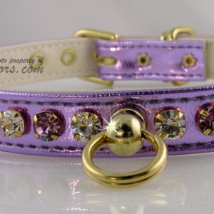 Metallic Deluxe Dog Collars - Purple