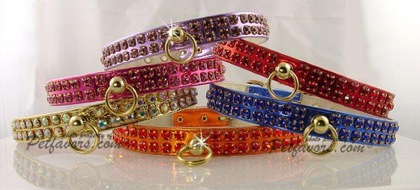 Metallic Swank Dog Collars