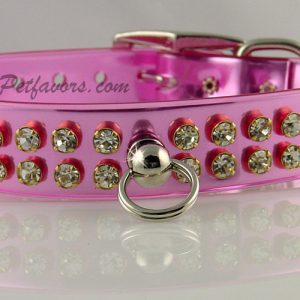 Shimmer Dog Collar and Leash - Pink