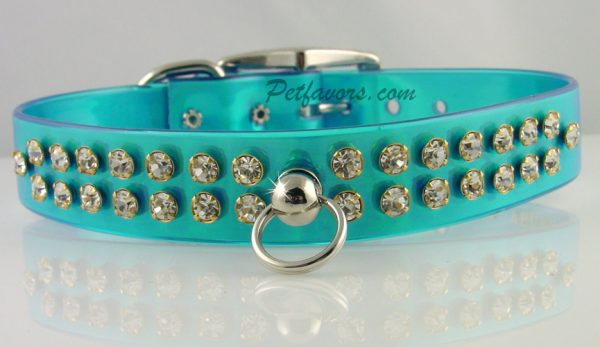 Shimmer Dog Collar and Leash - Blue