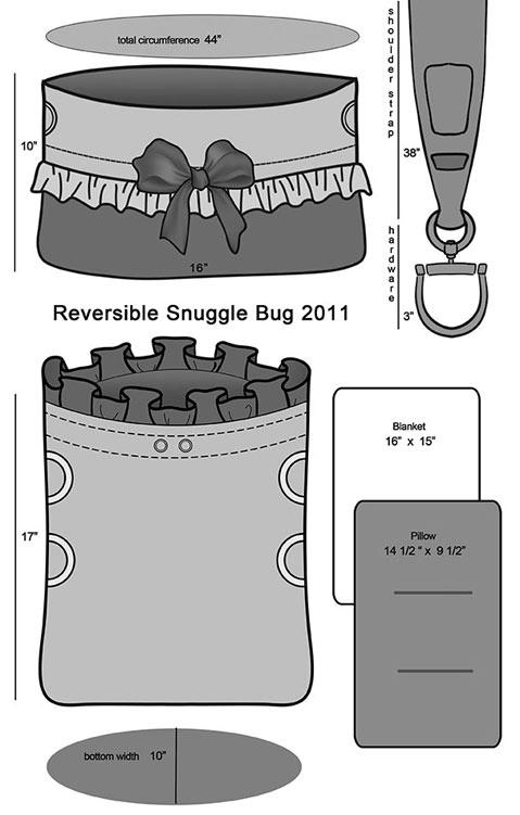 Snuggle Bug Pet Bed/Carrier by Pet Flys