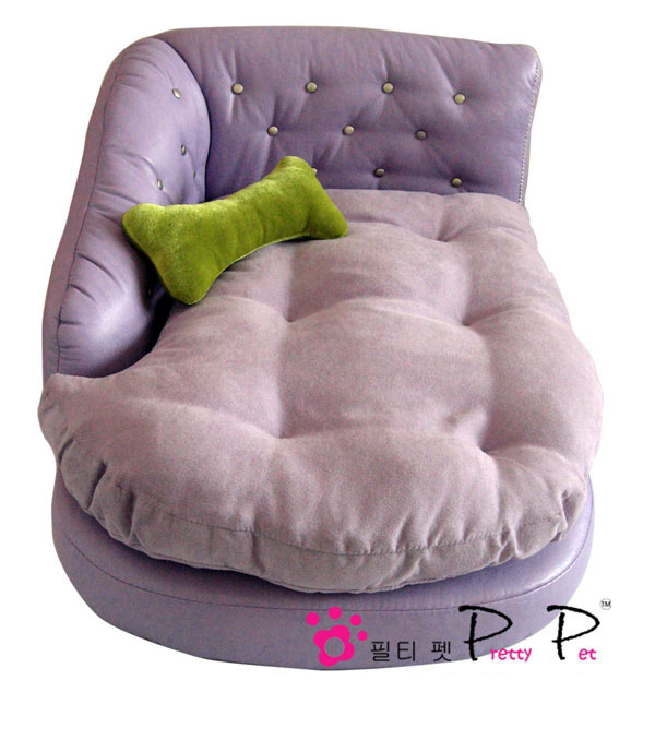 Luxurious Faux Leather Chaise Lounge - Purple
