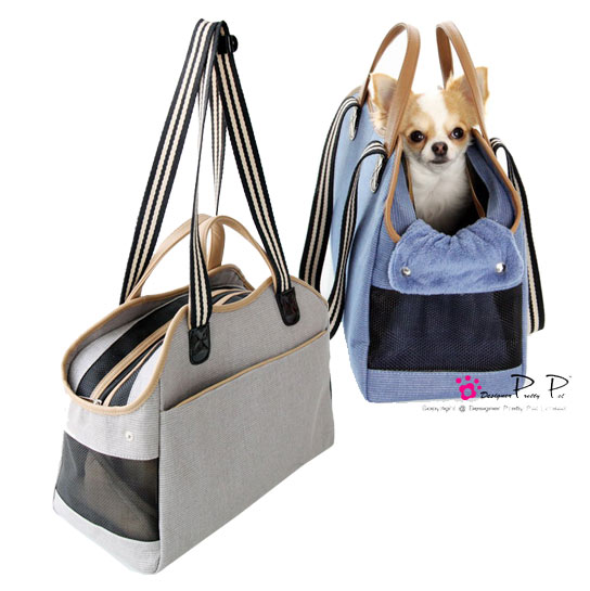 Pretty Pet Totes - Gray and Blue