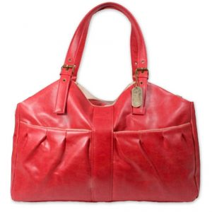 Pleated Pet Carrier - Red
