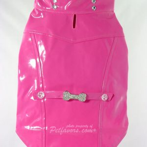 Biker Jacket with Crystal Bone Charm - Pink