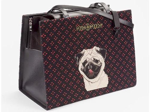 Needlepoint Pet Carriers - Pug