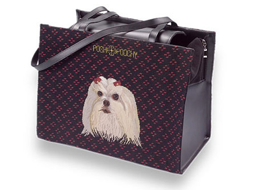 Needlepoint Pet Carriers - Maltese