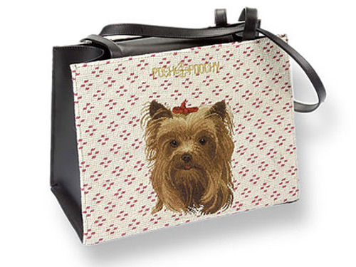 Needlepoint Pet Carriers - Yorkie